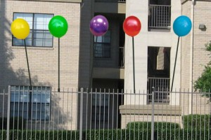 Colorful No Helium Balloons